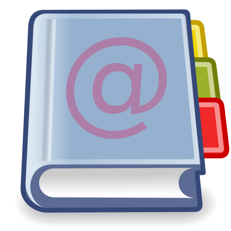 tango x office address book by warszawianka - An icon from Tango Project. Since version 0.8.90 Tango Project icons are Public Domain.
