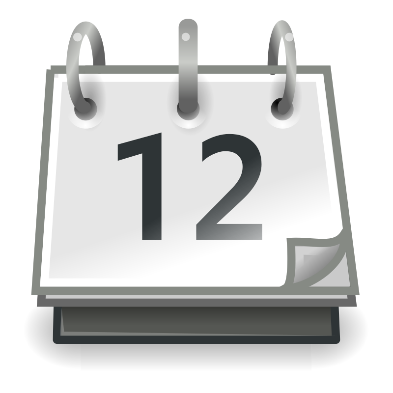 tango x office calendar by warszawianka - An icon from Tango Project. Since version 0.8.90 Tango Project icons are Public Domain.