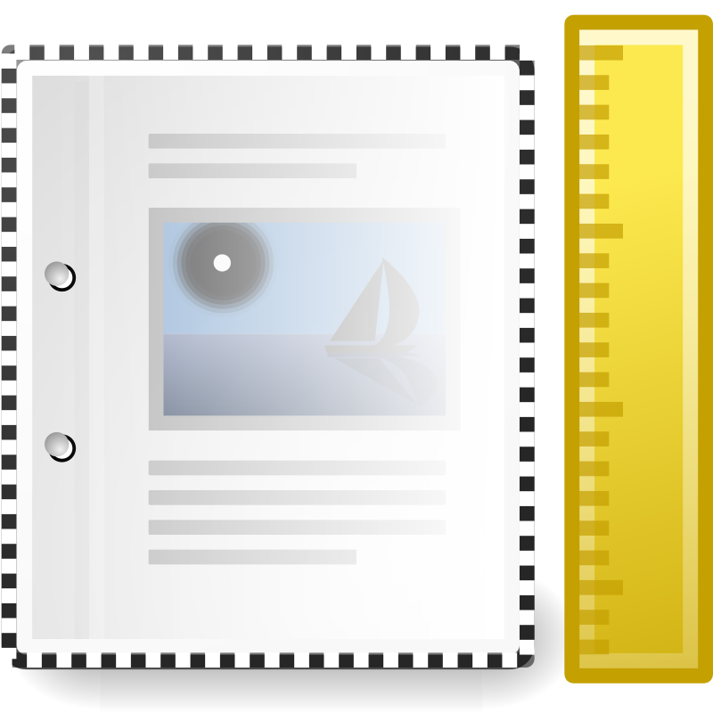 tango x office document template by warszawianka - An icon from Tango Project. Since version 0.8.90 Tango Project icons are Public Domain.