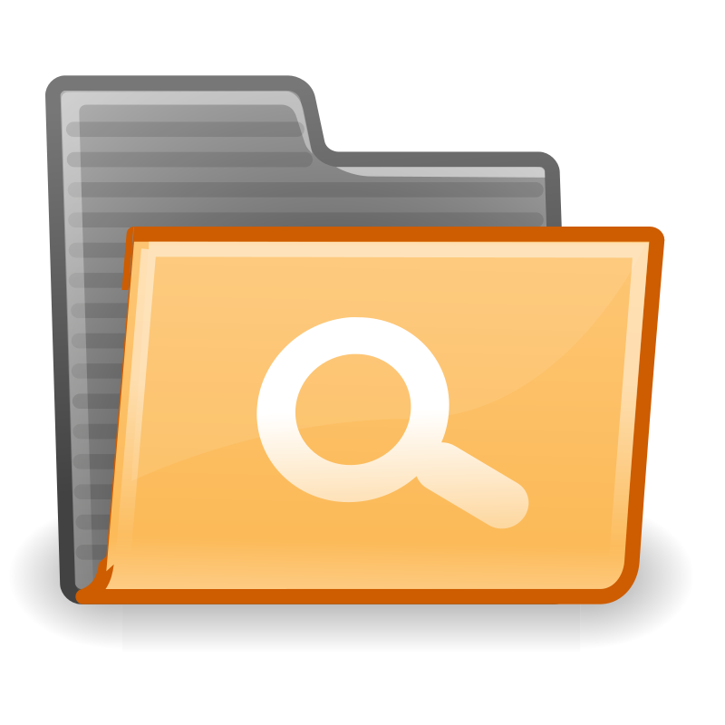 tango folder saved search by warszawianka - An icon from Tango Project. Since version 0.8.90 Tango Project icons are Public Domain.