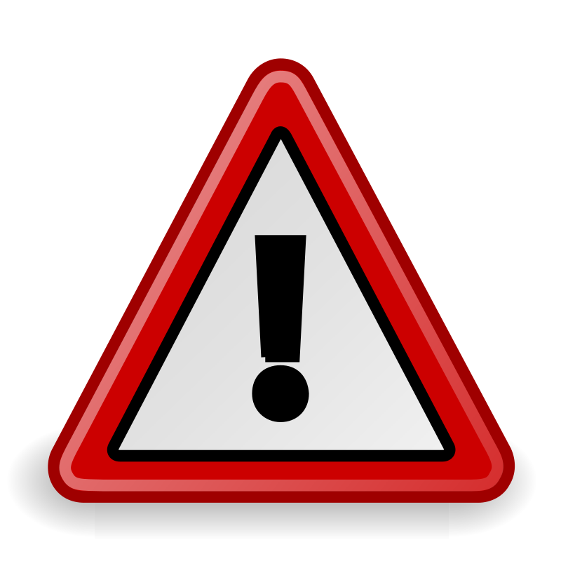 tango dialog warning by warszawianka - An icon from Tango Project. Since version 0.8.90 Tango Project icons are Public Domain.