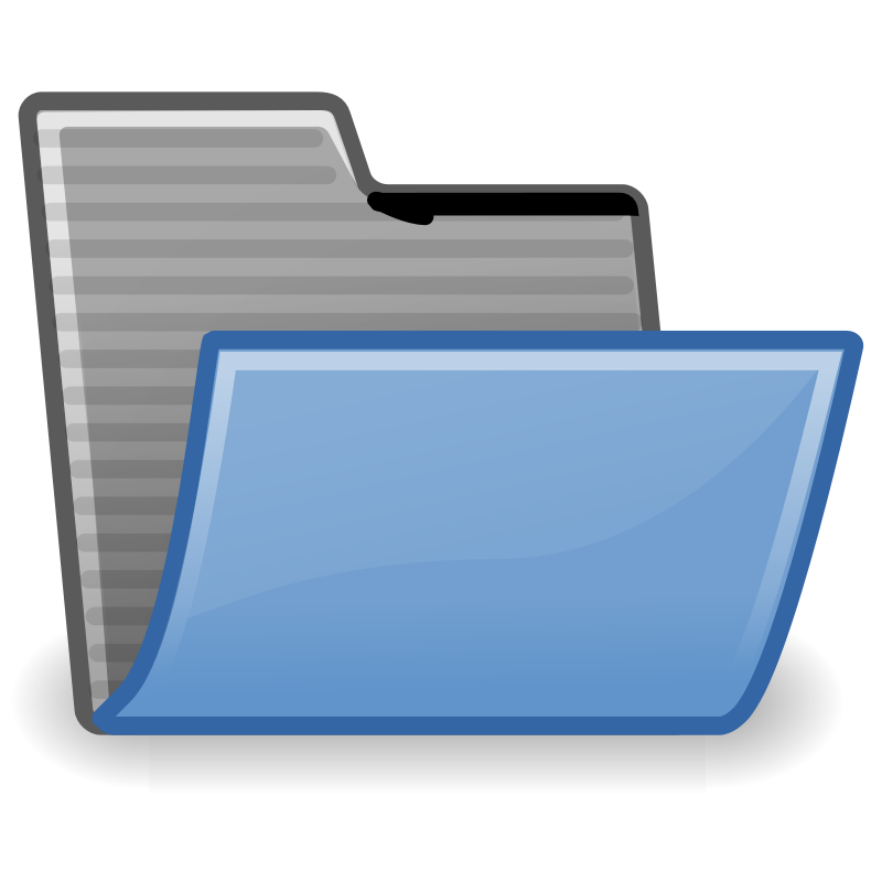 tango folder open by warszawianka - An icon from Tango Project. Since version 0.8.90 Tango Project icons are Public Domain.