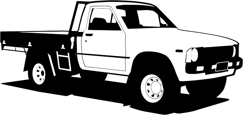 Toyota Hilux by Clue - Simplified drawing of a Toyota Hilux