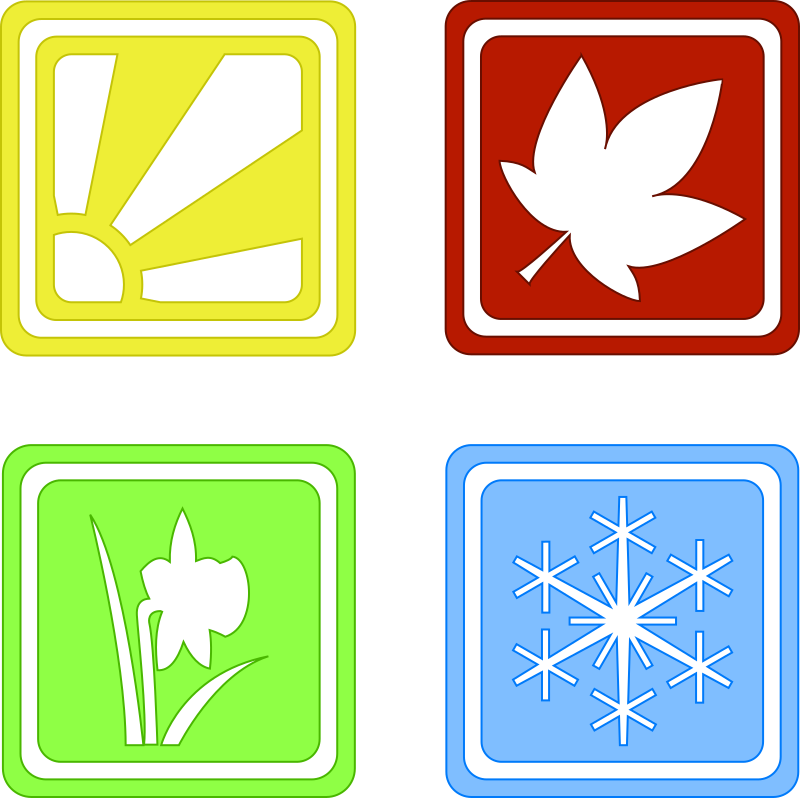 Seasons by hairymnstr - A set of silhouette icons depicting the seasons.