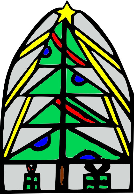 Christmas Tree by mazeo - Christmas tree with stained glass effect.