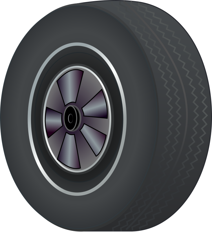 Tire by J_Alves - A tire (with wheel), drawn in Inkscape.