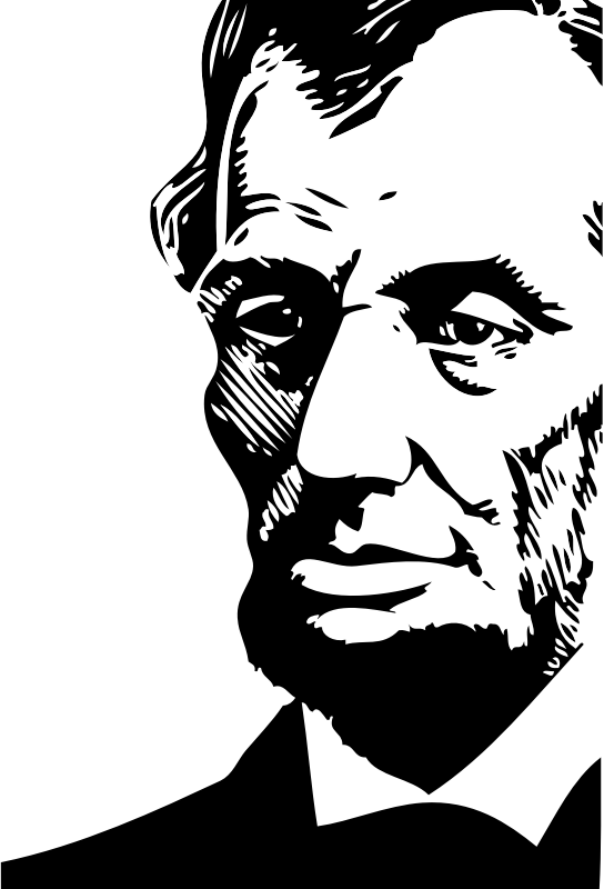 Abraham Lincoln by FunDraw_dot_com