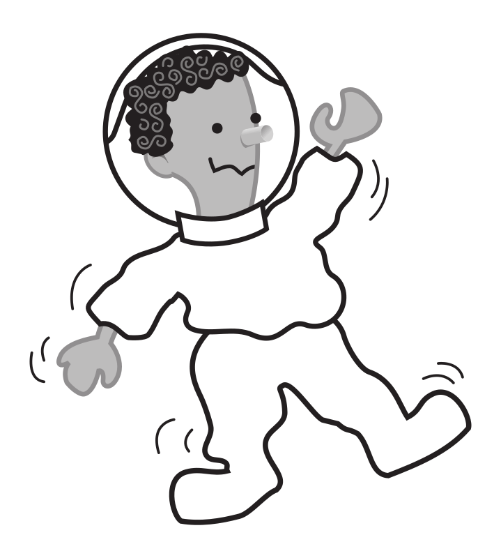 "Kid shaking by rejon - This is clipart converted and broken apart that has been released into the public domain because the document says so, and its from NASA, a USA government agency. The publication is called ""The Brain in Space:""