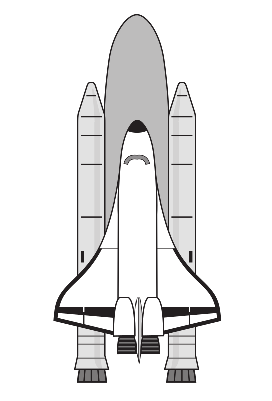 "NASA Space Shuttle by rejon - This is clipart converted and broken apart that has been released into the public domain because the document says so, and its from NASA, a USA government agency. The publication is called ""The Brain in Space:""
