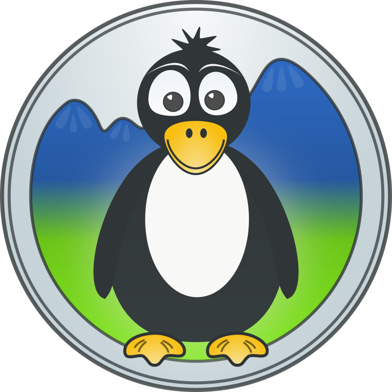 A penguin in the mountains by artfwo - A logo idea for our local LUG.