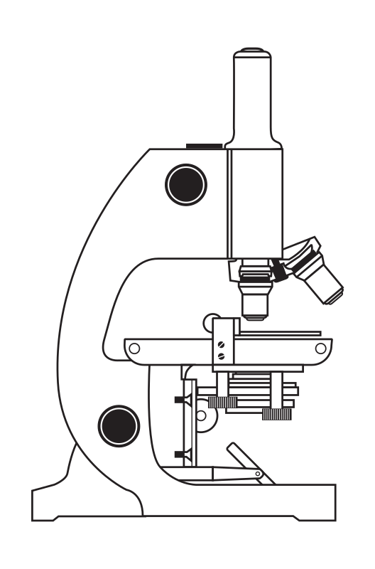 "Microscope without Coloring by rejon - This is clipart converted and broken apart that has been released into the public domain because the document says so, and its from NASA, a USA government agency. The publication is called ""The Brain in Space:""
