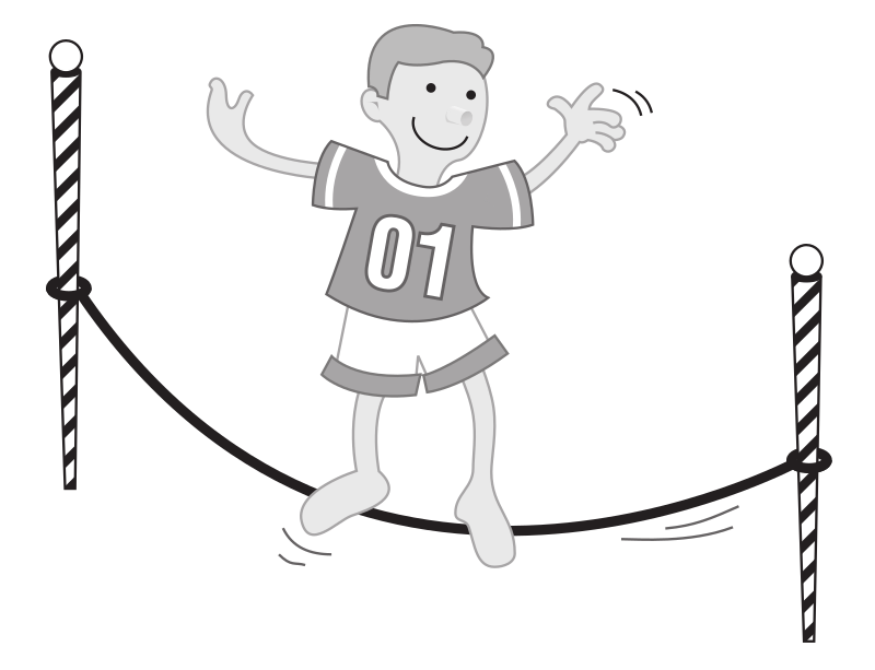 "Kid balancing on a string by rejon - This is clipart converted and broken apart that has been released into the public domain because the document says so, and its from NASA, a USA government agency. The publication is called ""The Brain in Space:""