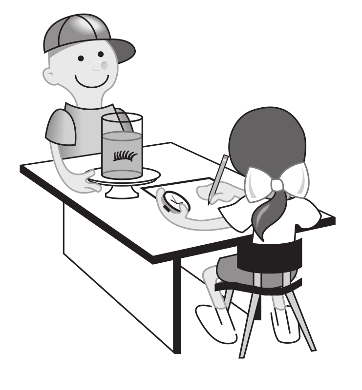 "Kids at table doing experiment by rejon - This is clipart converted and broken apart that has been released into the public domain because the document says so, and its from NASA, a USA government agency. The publication is called ""The Brain in Space:""