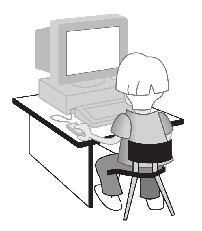 "Kid at a computer by rejon - This is clipart converted and broken apart that has been released into the public domain because the document says so, and its from NASA, a USA government agency. The publication is called ""The Brain in Space:""