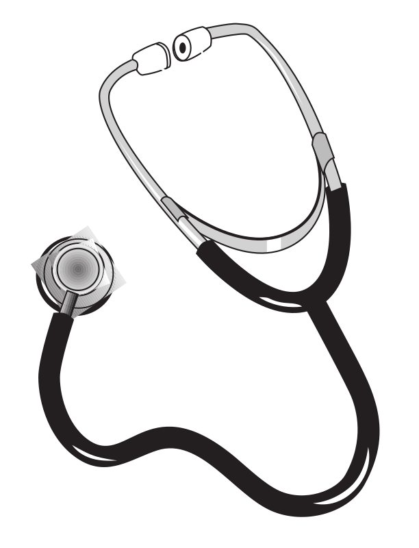 "Stethoscope Plain by rejon - This is clipart converted and broken apart that has been released into the public domain because the document says so, and its from NASA, a USA government agency. The publication is called ""The Brain in Space:""
