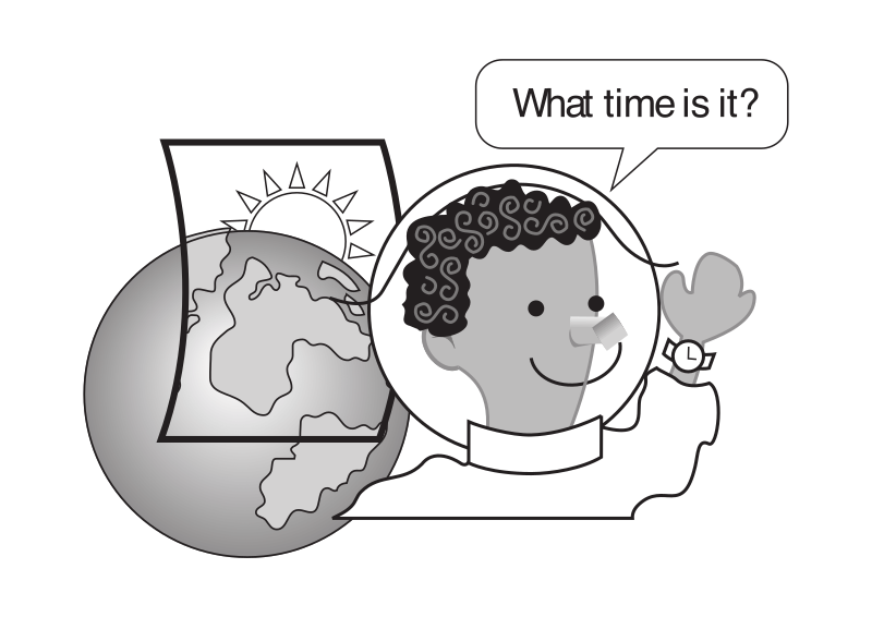 "What time is it kid by rejon - This is clipart converted and broken apart that has been released into the public domain because the document says so, and its from NASA, a USA government agency. The publication is called ""The Brain in Space:""