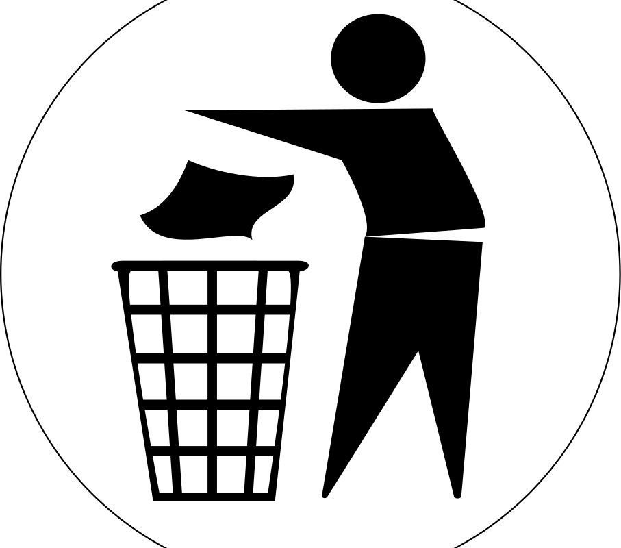 Put Rubbish in Bin Signs by doctormo