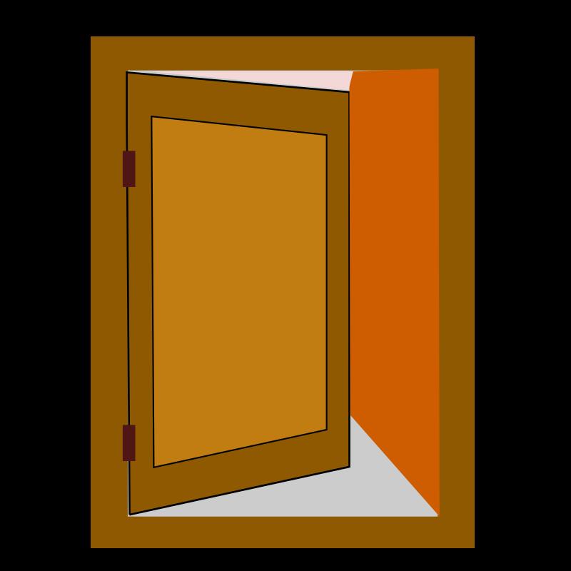 Animated Swinging Door : Clipart netalloy door