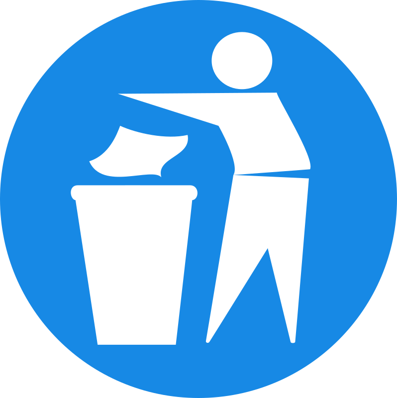 Put Rubbish in Bin Signs 1 by doctormo
