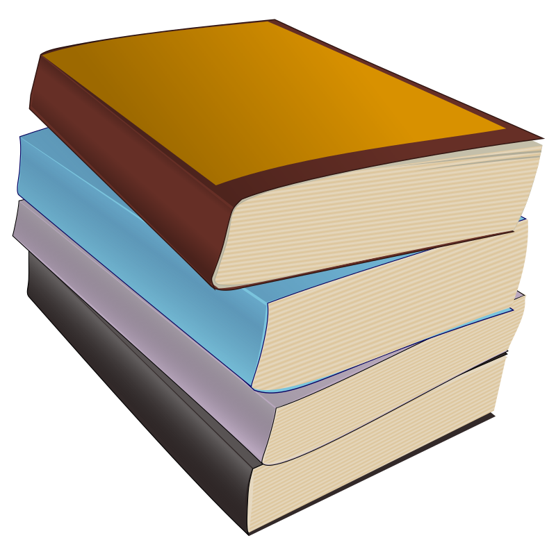 Clipart - Stack of Paperbacks