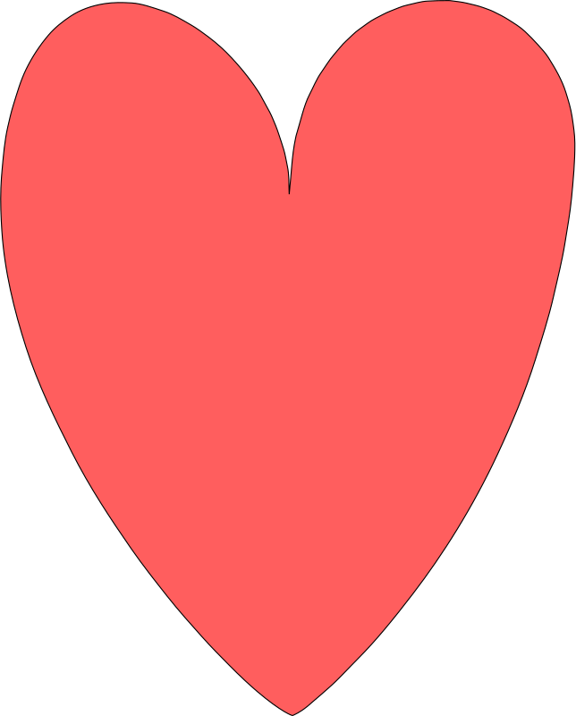 heart by Selanit - I'm still learning Inkscape, so I went poking through the requests list till I found an easy one to practice with. This heart is the result.