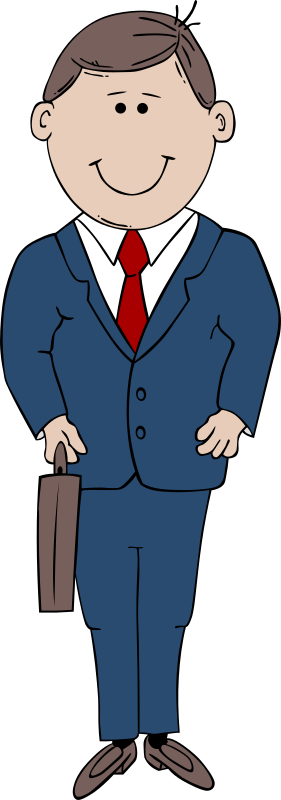 "Man in Suit by Gerald_G - Uploaded by ""World Label"" for conversion to SVG and publication on OCAL.   Added a business man body to the man's face cartoon."