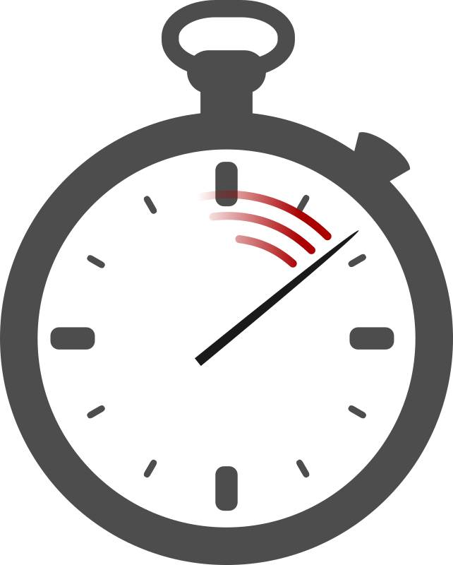 Clipart - Stopwatch (no shading)