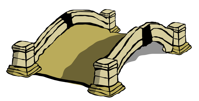 old bridge by JPortugall - small clip art stone bridge which I drew to use on an adventure game map