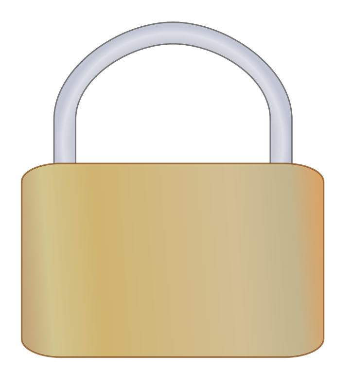Padlock by qwandor - A simple metal padlock, viewed from the front.