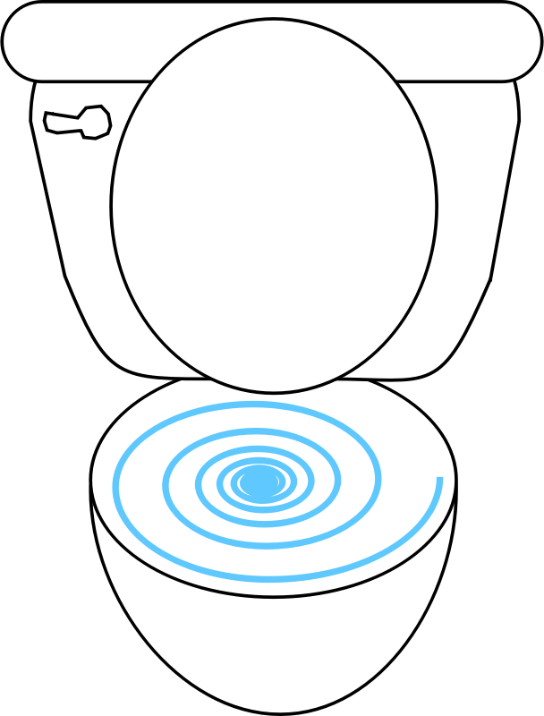 Swirly Toilet by FunDraw_dot_com - Simple lineart drawing of a toilet.
