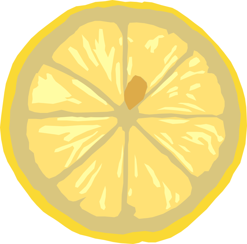 Lemon slice by gingercoons - A slice of lemon.