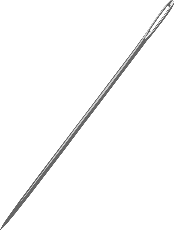 Sewing needle by gingercoons - A sewing needle, slightly slanted.