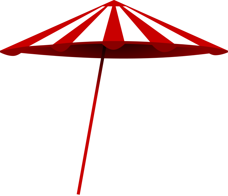 red-white umbrella by TomK32 - a simple umbrella. summer is coming up.