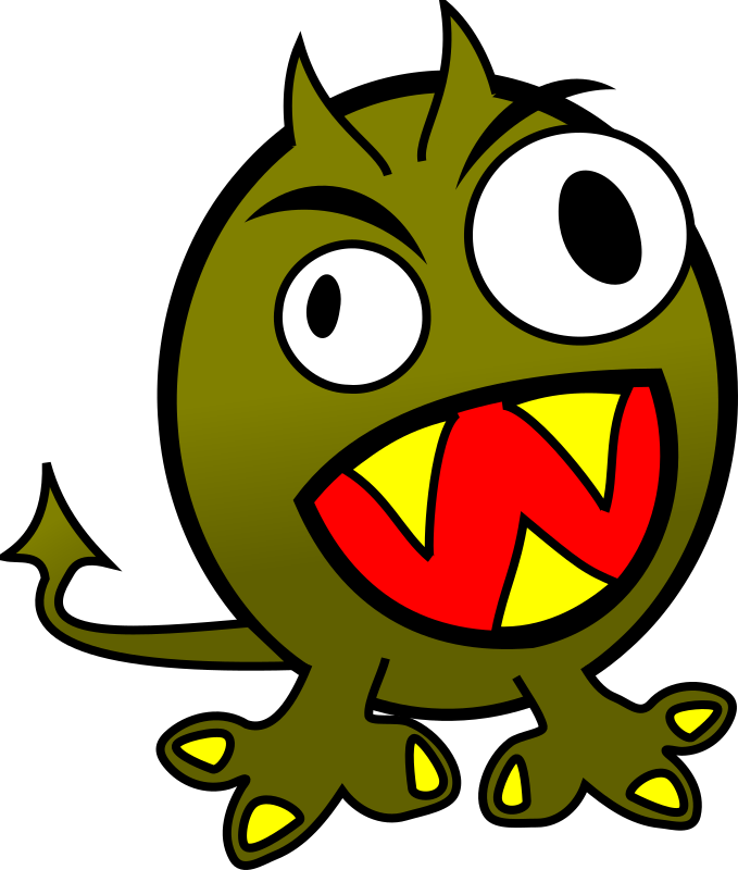 small funny angry monster by molumen