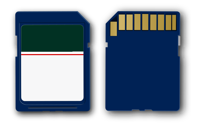 sd-card by webmichl - just a simple sd-card. i left the label blank so you can design it as you want.