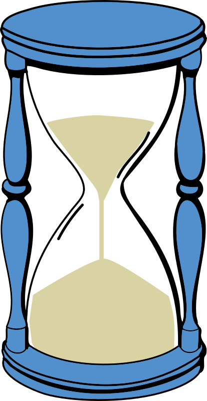 hourglass with sand by johnny_automatic - a color drawing of an hourglass with sand