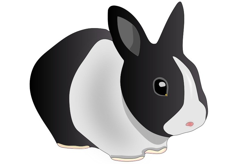 Friendly rabbit by danko - A simple friendly rabbit. My first creation with Inkscape. Actually my first vector graphic creation ^.^