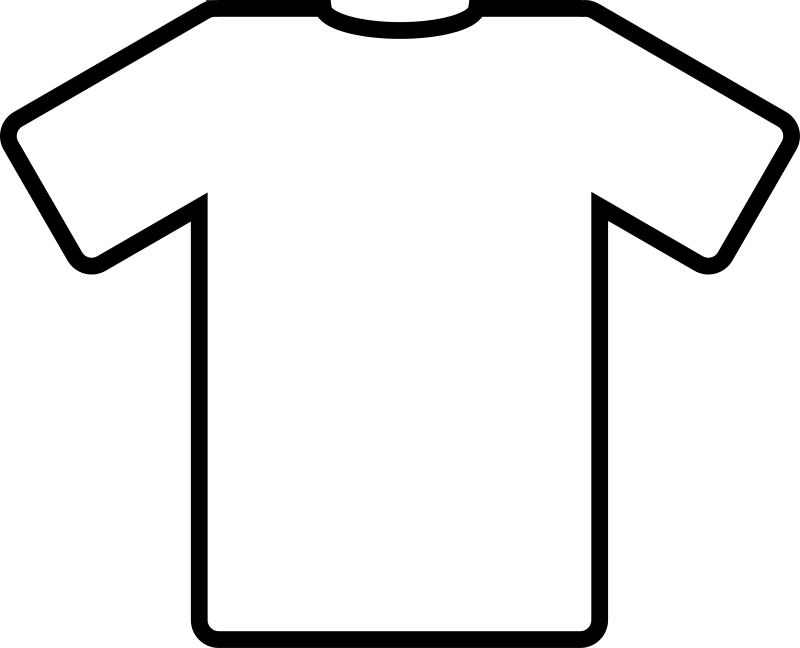 free t shirt coloring page - clipart white t shirt