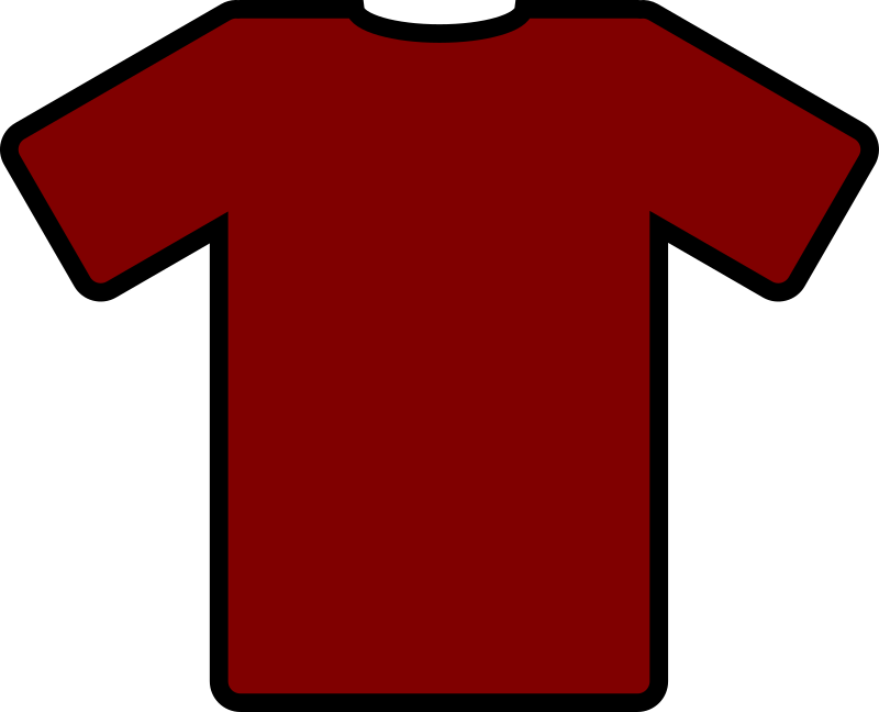 red tshirt by ryanlerch - a basic t-shirt design that could be used for putting your own design on.
