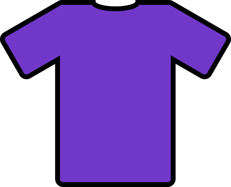 purple t-shirt by ryanlerch - a basic t-shirt design that could be used for putting your own design on.