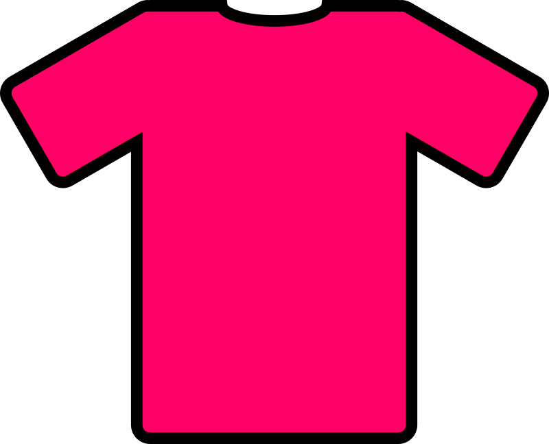 pink t-shirt by ryanlerch - a basic t-shirt design that could be used for putting your own design on.