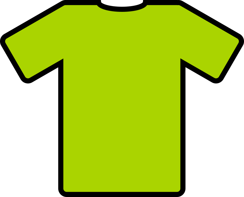 green t-shirt by ryanlerch - a basic t-shirt design that could be used for putting your own design on.