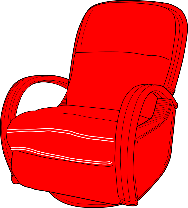 Lounge Chair Red by erlandh - Red Lounge Chair
