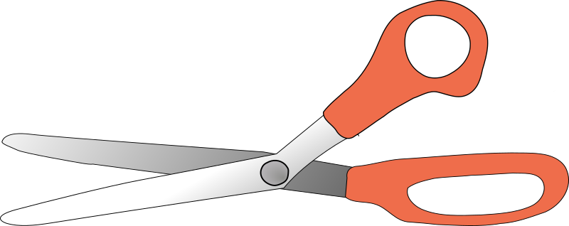scissors  open by TheresaKnott - Open scissors with red handles.