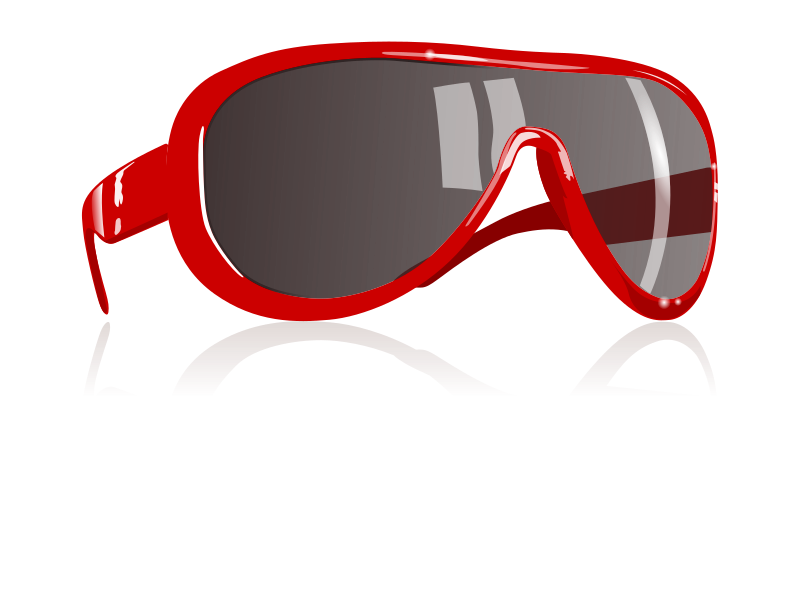 sunglasses by flomar - these are big red sunglasses like they are  especially fashionable at the moment for women and men.