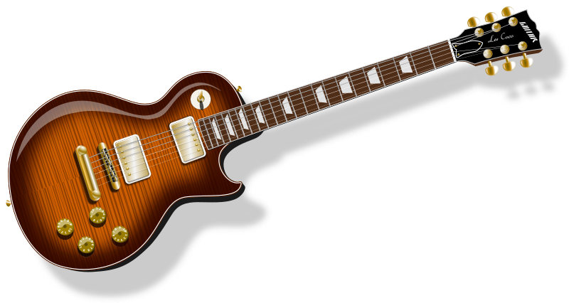 LP Guitar with flametopfinish by Chrisdesign - A Gibson Les Paul Guitar with warm Flametopfinish.