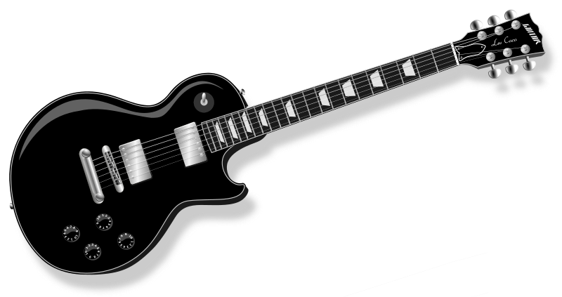LP Guitar black by Chrisdesign