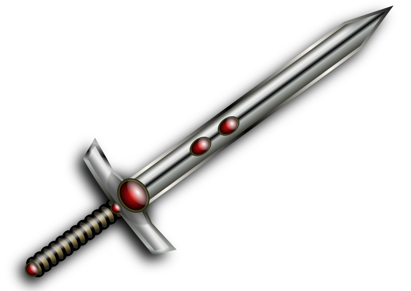 Jeweled Sword by lilking - A sword me and my brother made.