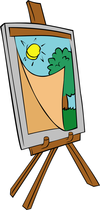 Easel with kids painting by Gerald_G