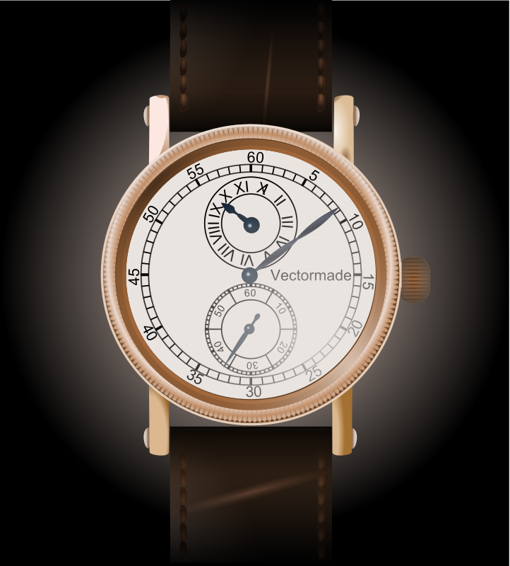 wristwatch #2 - regulateur by webmichl - a special clock-style: every hand has it's own center.
